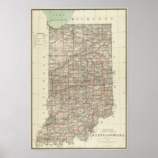 Estado de Indiana Póster