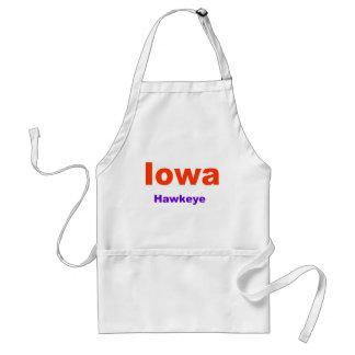 Estado de Iowa-Hawkeye Delantal