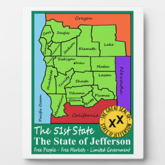 Estado de Jefferson Placas De Madera