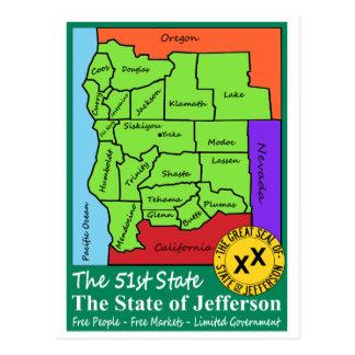 Estado de Jefferson Postales