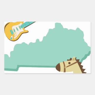 Estado de Kentucky Pegatina Rectangular