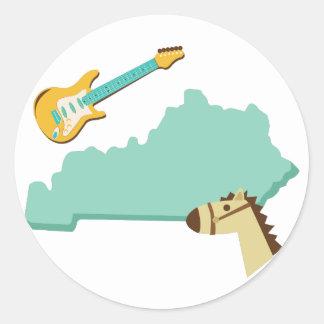 Estado de Kentucky Pegatina Redonda