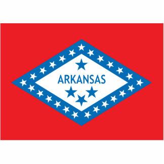 Estado de la bandera de Arkansas Escultura Fotográfica