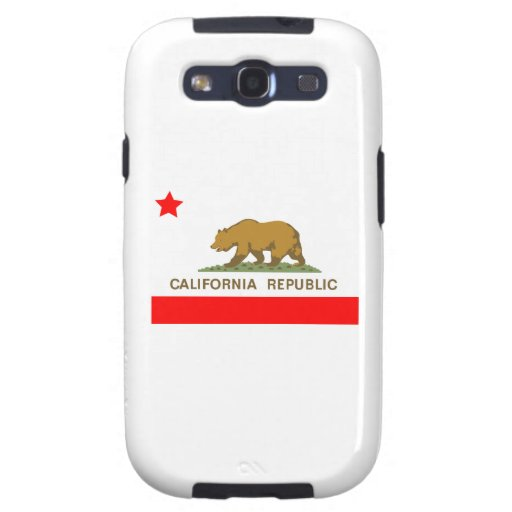 Estado de la bandera de California Galaxy SIII Cárcasas