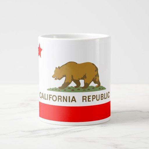 Estado de la bandera de California Taza Grande
