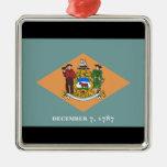 Estado de la bandera de Delaware Ornamentos De Navidad