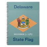 Estado de la bandera de Delaware Libro De Apuntes Con Espiral