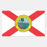 Estado de la bandera de la Florida Pegatina Rectangular