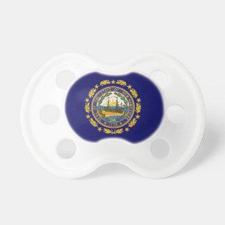 Estado de la bandera de New Hampshire Chupete De Bebe