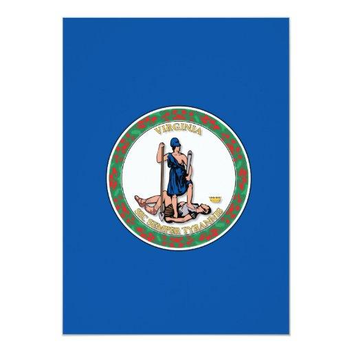 Estado de la bandera de Virginia Invitación 12,7 X 17,8 Cm