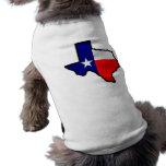 Estado de la camisa del mascota de Tejas Camiseta De Perrito
