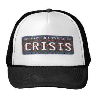 Estado de la crisis gorros bordados