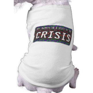 Estado de la crisis playera sin mangas para perro