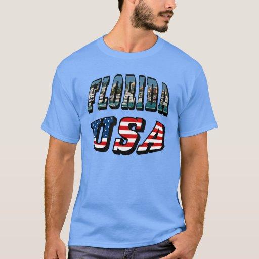 Estado de la Florida y texto de la bandera de los Playera