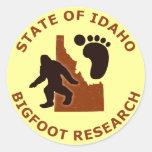 Estado de la investigación de Idaho Bigfoot Etiqueta Redonda