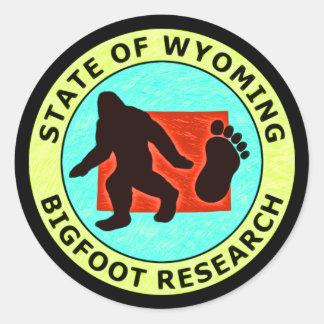 Estado de la investigación de Wyoming Bigfoot Pegatina Redonda