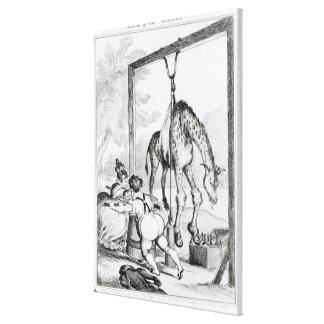 Estado de la jirafa, 1829 impresiones de lienzo