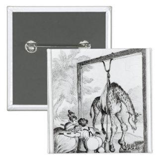 Estado de la jirafa, 1829 pin cuadrado