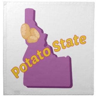 Estado de la patata servilletas
