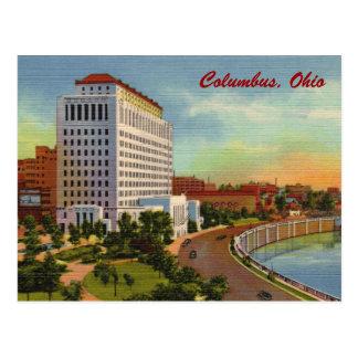 Estado de la postal del vintage del edificio de of