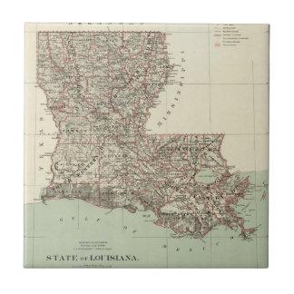 Estado de Luisiana Azulejo Cuadrado Pequeño