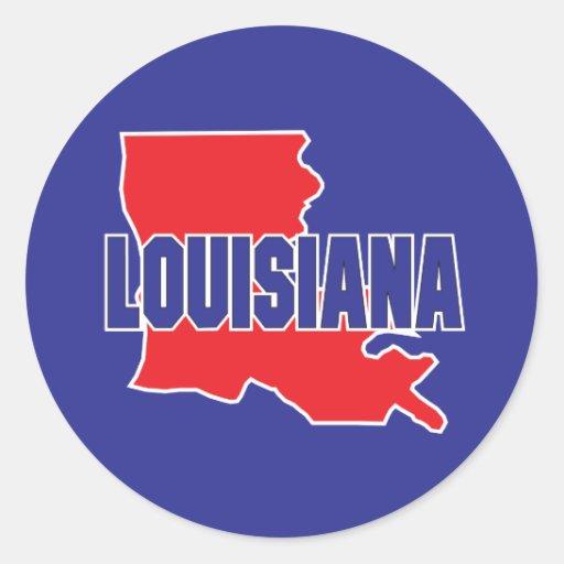 Estado de Luisiana Etiqueta Redonda