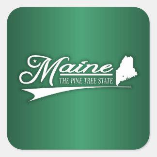 Estado de Maine los míos Pegatina Cuadrada