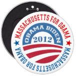 Estado de Massachusetts para Obama-Obama Biden 201 Pins