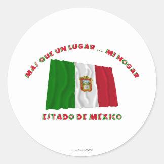 Estado de México - la O.N.U Lugar… MI Hogar de Más Pegatina Redonda