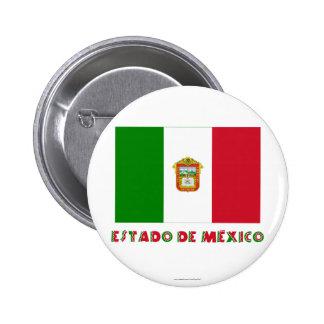Estado de México Unofficial Flag Pinback Button