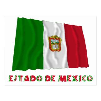 Estado de México Waving Unofficial Flag Postcard
