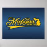 Estado de Michigan los míos Poster