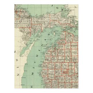 Estado de Michigan Tarjeta Postal