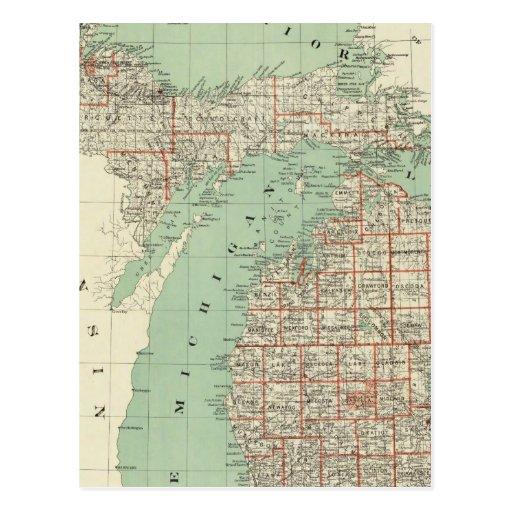 Estado de Michigan Tarjetas Postales