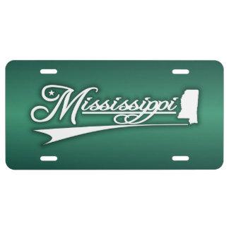Estado de Mississippi los míos Placa De Matrícula