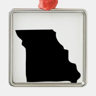 Estado de Missouri americano Adorno Cuadrado Plateado