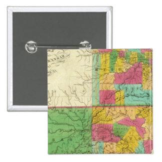 Estado de Missouri y del territorio de Arkansas Pin Cuadrado