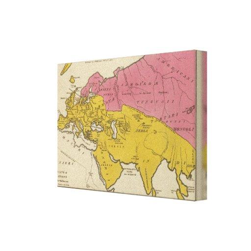 Estado de naciones en el aera cristiano impresión de lienzo