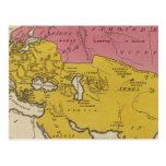Estado de naciones en el aera cristiano tarjeta postal