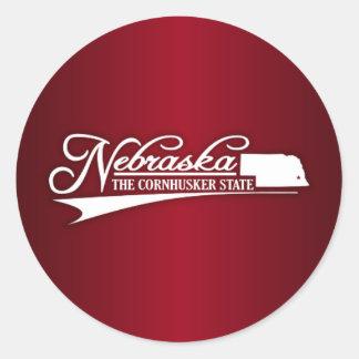 Estado de Nebraska los míos Pegatina Redonda