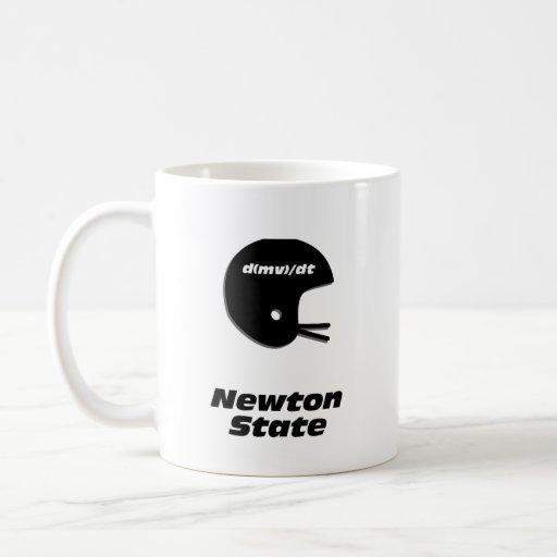 Estado de Newton del casco de fútbol americano Tazas De Café
