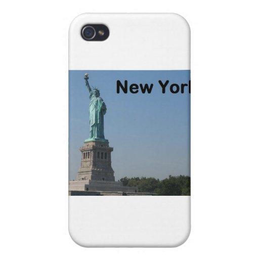 Estado de Nuevo York de la libertad iPhone 4 Fundas