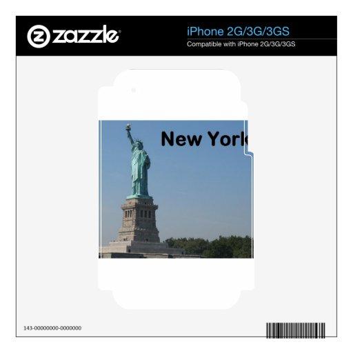 Estado de Nuevo York de la libertad iPhone 3G Calcomanía