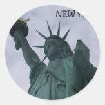 Estado de Nuevo York de los E.E.U.U. de la Pegatina Redonda