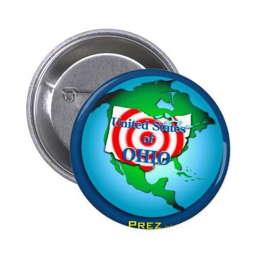 Estado de Ohio unido Pin Redondo 5 Cm