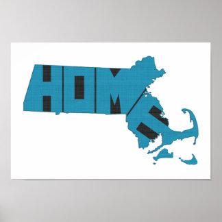 Estado de origen de Massachusetts Impresiones