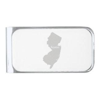Estado de origen de New Jersey Clip Para Billetes Plateado