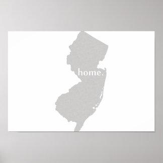 Estado de origen de New Jersey Póster