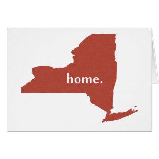 Estado de origen de Nueva York Felicitación