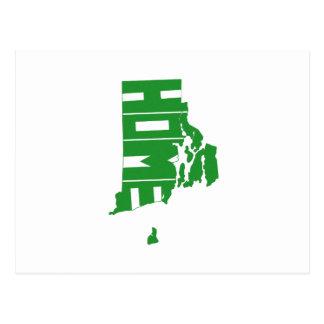 Estado de origen de Rhode Island Postales